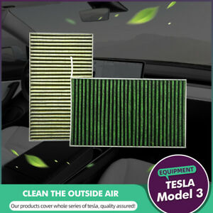 For Tesla Model 3 S X Replacement Activated Cabin Air Filter Intake Protection