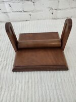 Vintage Handmade Solid Walnut Napkin Holder Adjustable