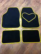 HEART LOVE CAR MATS CARPET YELLOW TOYOTA YARIS AVENSIS AYGO CELICA COROLLA IQ