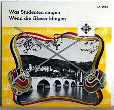 """10"""" Vinyl - K. GOLGOWSKY & Chor - Was Studenten singen - Wenn die Gläser klingen"""