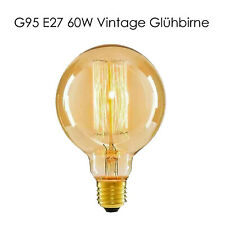 E27 G95  Vintage Retro Edison Filament Glühlampe Glühbirne Alt Klassisch