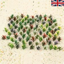 100pc Plastic Flowering Plants Landscape Railway Layout 4cm Scale 1:100 UK STOCK