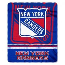New York Rangers Soft Fleece Throw Gift Blanket NYR NHL Hockey Team Logo NIP NWT