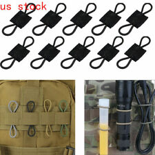 New listing US 10PS Elastic Molle PTT Retainer Ribbon Buckle for Antenna Cable Routing Wires