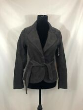 H&M NWT Womens Size 6 Brown Long Sleeve Tie Front Button Corduroy Jacket