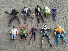 Lot of 10 Action Figures, Vintage 90's DC Comics Marvel Spider-Man Batman More