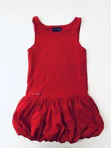 Ralph Lauren Girls Dress Size 5 Red Ruffle 100% Cotton