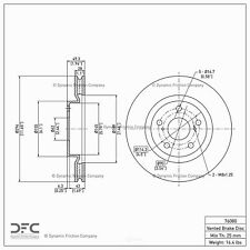 Disc Brake Rotor Front DFC 600-76080