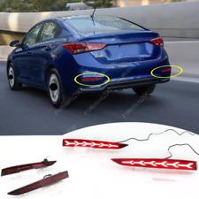 For Hyundai Accent 2018-2020 LED Rear Fog lights/brake warning lights/turn signa