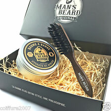 man's beard - fabrication française - coffret baume à barbe et brosse à barbe
