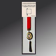 Antioch Jeweled Pendant Bookmark Locket With Chain Tassel NEW