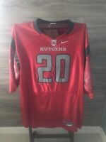 Rutgers Scarlet Knights Nike Football Jersey- Adult L- #20- Red