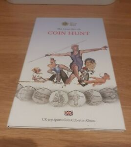 2012 London Olympics 50p Coin Album Full Set of 29 Coins & Completer Medallion