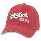 Miller High Life Underside Girl In The Moon Hat Red
