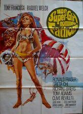 FATHOM French Grande movie poster 47x63 RAQUEL WELCH BIKINI RARE 1967