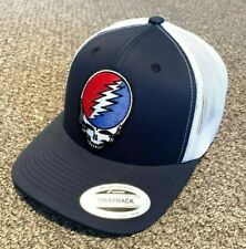 Grateful Dead Hat Steal Your Face SnapBack Trucker Mesh Cap Handcrafted in USA!
