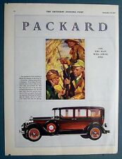 Original 1928 PACKARD Car Ad Duck Hunter Theme ASK THE MAN WHO OWNS ONE