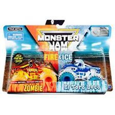 Monster Jam, Fire & Ice Exclusive 2 Pack, Zombie vs. El Toro Loco Monster Truck