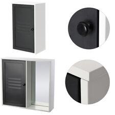 Single Metal Door Cabinet Mirror Bathroom Storage Cupboard Shelving Makeup Unit