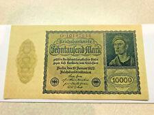 1922 Reichsbanknote 10000 Marks CU Banknote #9607