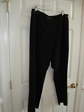 Focus 2000 Woman Black Poly/Rayon/Spandex w/Sequins Front Zip Pants 14W EUC