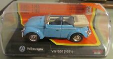 Volkswagen Beatle Maggiolone Cabrio 1951 New Ray Die Cast 1:43 Model 48489 NUOVO