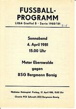 DDR-Liga 80/81 ZEPA Bergmann cruzcampo Berlin-BSG Motor Eberswalde