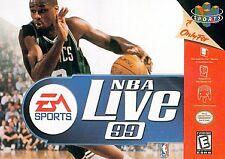 NBA LIVE 99 1999 NINTENDO 64 N64 N 64 GAME NES HQ