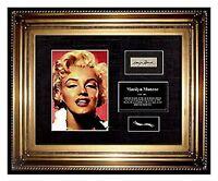 MARILYN MONROE Hair LOCK photo autograph letter CHARITY Signed COA Memorabilia