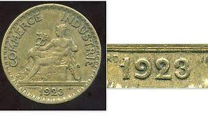 2 francs 1923 CHAMBRE DE COMMERCE ( le 2  fermé )