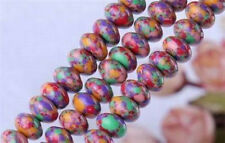 5x8mm Multicolor Turkey Turquoise Gems Abacus Loose Beads 15inch