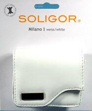 Soligor Milano I Fototasche weiss / white leather case Tasche poche - (12416)