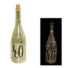 Gold Crackle Glaze Battery Light Up Bottle with Number - 40th Birthday Gift