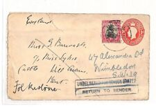AH17 1931 South Africa Postal Stationery Undelivered GB {samwells-covers} PTS