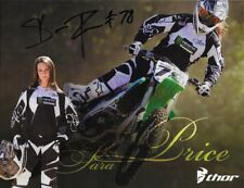 *SARA PRICE*SIGNED*AUTOGRAPHED*PICTURE*MONSTER*ENERGY*KAWASAKI*THOR*COA*