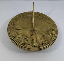 Sundial Grow Old Along With Me The Best Is Yet To Be Brass