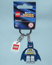 NEW LEGO SUPER HEROES BATMAN MINIFIGURE KEY CHAIN, KEY RING, 853429