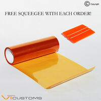30 x 100cm Orange Headlight Tinting Film Fog Vinyl Lights Tint + FREE SQUEEGEE