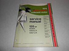 1974 135 hp Genuine JOHNSON EVINRUDE Outboard Repair & Service Manual 135hp
