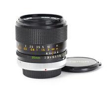 Canon S.S.C 2/35mm f/2.0 35mm mount Canon FD A-1 AE-1 No.69544