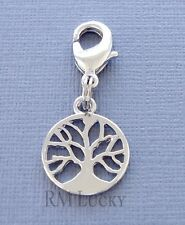 Dangle Tree of Life Clip On Charm lobster claw Fit Link Chain, locket C39