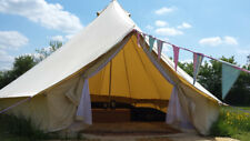 Waterpoof 5M Canvas Camping Bell Tent Teepee Glamping Family Yurt  Stove Jack