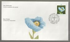 1997 Canada Quebec in Bloom, Blue Poppy FDC. First day Cover