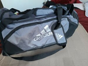 ADIDAS Team Issue 2 Large Duffel Bag silver and black  Unisex Large