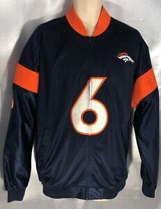 NFL PLAYERS DENVER BRONCOS JAY CUTLER JACKET COAT BLUE/ORANGE LARGE EXC     CC28