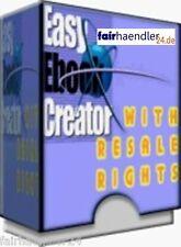 EASY EBOOK CREATOR - E-BOOKS EINFACH GEMACHT ENGLISH SOFTWARE TOOL MRR PC WEB