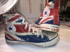 converse all star chuck taylor Youth 5/womens 6.5 Flag Red White Blue