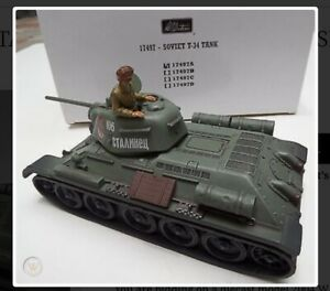 Britains 17497A Soviet Russian Army T-34 Tank With Tank Commander New