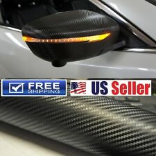 """4D GLOSS"" Black Carbon Fiber Vinyl Wrap Film Sticker DIY Decal 108""x60"" 9ftx5ft"
