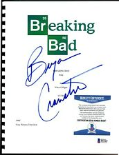 2005 AMC SONY BREAKING BAD PILOT SCRIPT BRYAN CRANSTON SIGNED AUTO BECKETT AUTH!